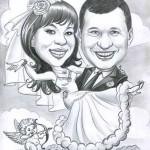 Шарж свадебный