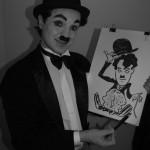 Шаржист в стиле Чарли Чаплин