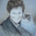 портрет чорно-белый, маслом на бумаге (сухая кисть)умбра 2